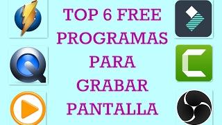 Video Top 5 programas GRATIS para grabar pantalla download MP3, 3GP, MP4, WEBM, AVI, FLV November 2018