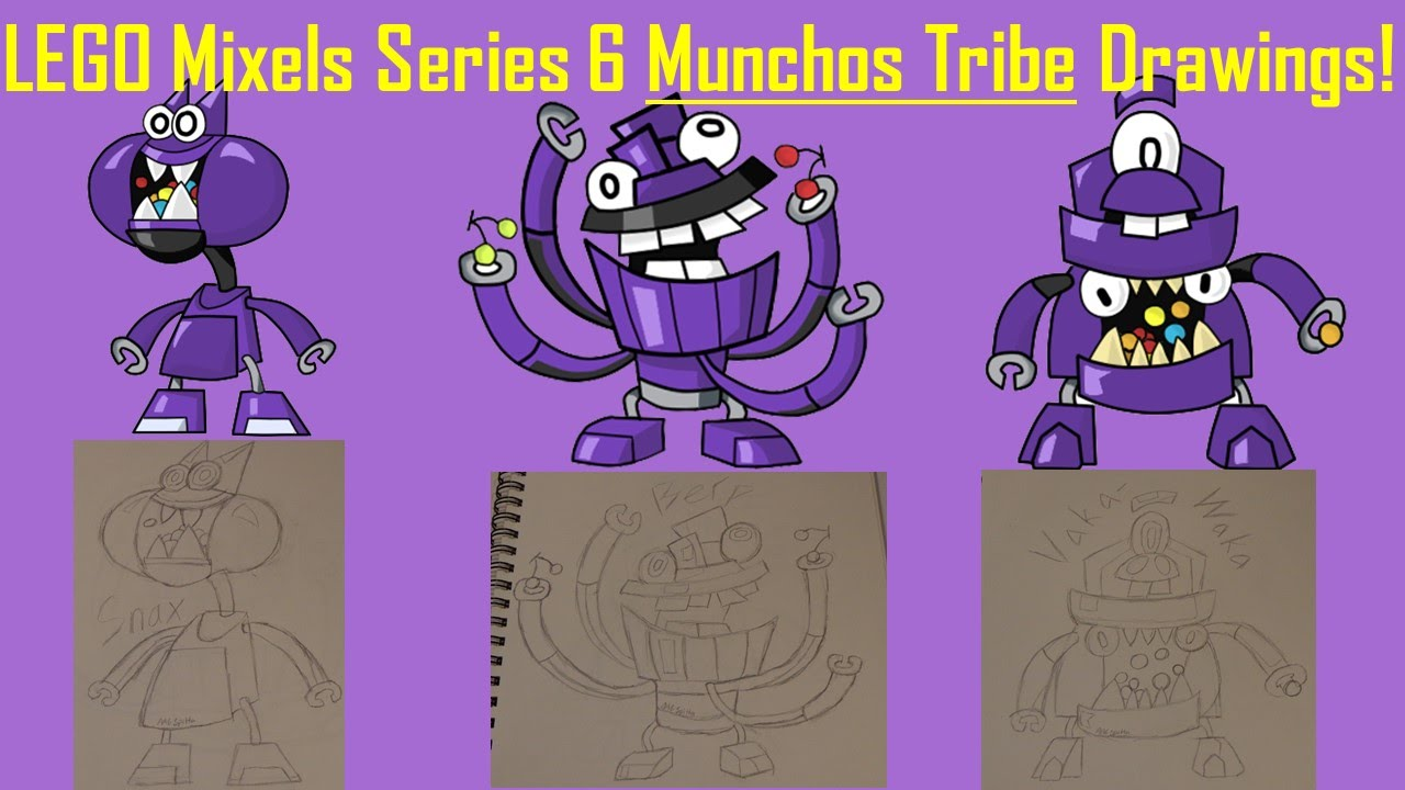 Lego Mixels Series 6 Munchos Tribe Drawings Youtube