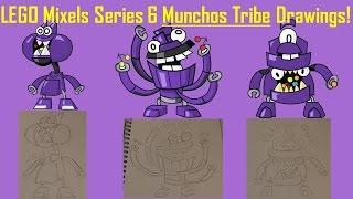LEGO Mixels Series 6 Munchos Tribe Drawings!