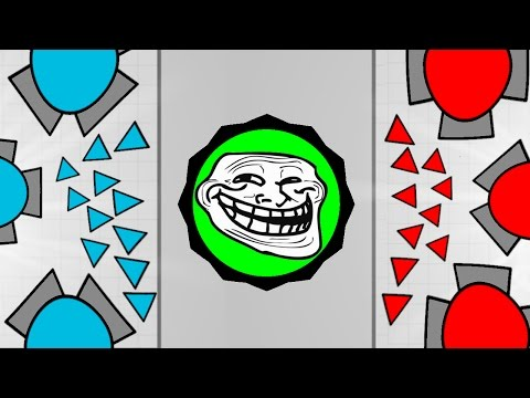 Diep.io INDESTRUCTIBLE Smasher Best Tank Vs Powerful Overlord Build! - Tag Mode Trolling Gameplay!