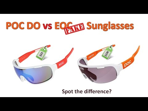POC DO Blade vs EOC Fake Sunglasses: Can you spot the difference? Which should you buy?