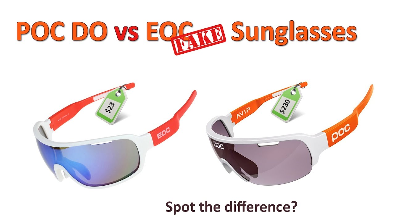 66b0041767 POC DO Blade vs EOC Fake Sunglasses  Can you spot the difference  Which  should you buy  - YouTube
