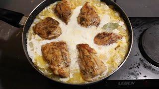 Бабушка поделилась рецептом вкусного и простого ужина. Курица в сметанном соусе