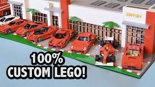Incredible Lego Ferrari Dealership 36 000 Pieces Youtube