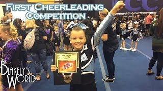 First Cheerleading Competition | Blakely Bjerken