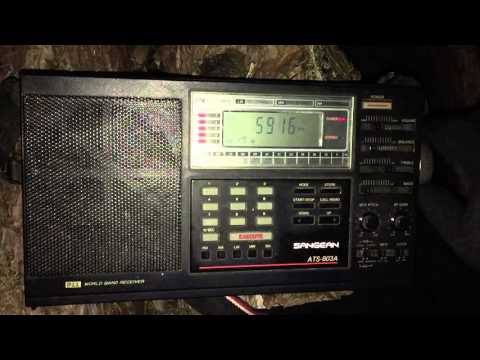 DXpedition: Zambia NBC Radio 1, 5915 kHz very good reception with vinatage Sangean ATS-803A