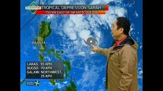 UB: Update sa Tropical Depression Sarah