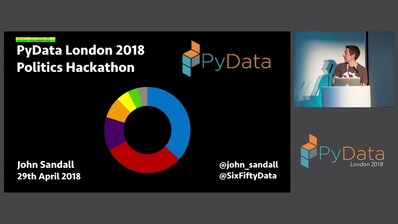 Image from PyData London 2018 Lightning Talks - Day 2