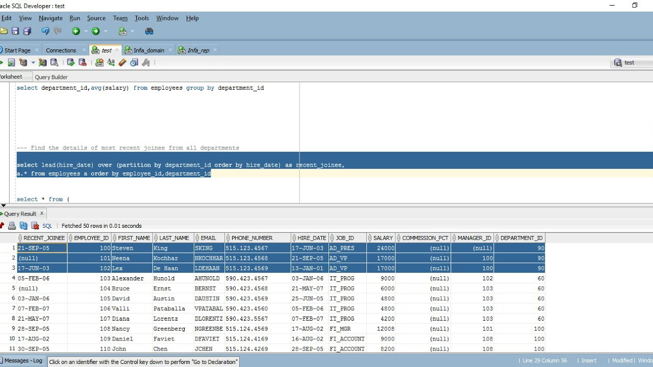 Analytical Functions in oracle explained with real examples
