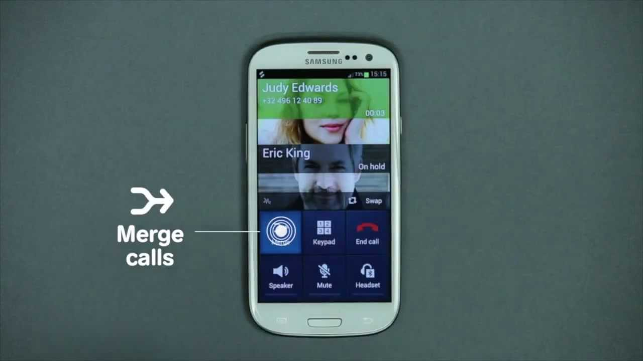 How to use Conference Call with Android? - Mobistar - YouTube