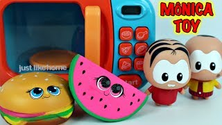 MÔNICA TOY e o Microondas de Brinquedo Magico com Comidinhas