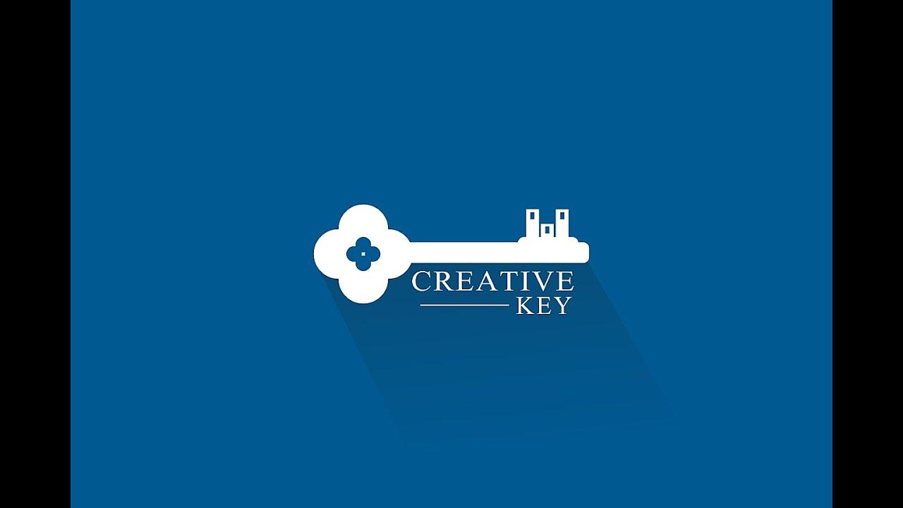 illustrator tutorial flat logo design with long shadow creative