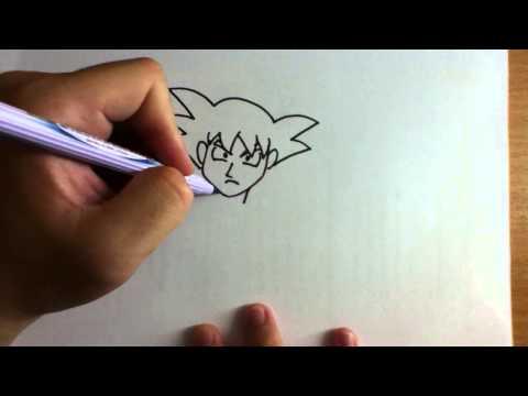สอนวาดรูป การ์ตูน โกคู ดราก้อนบอล