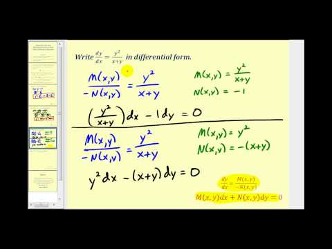 Standard and Differential Form of First-Order Differential Equations