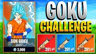 *NEW* GOKU CHALLENGE IN FORTNITE! - Fortnite Battle Royale Goku Challenge! (Become Goku in Fortnite)