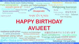 Avijeet   Languages Idiomas - Happy Birthday