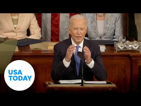 Biden addresses Congress in historic night with Pelosi and VP Harris | USA TODAY
