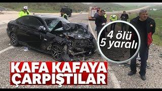 Diyarbakır'da Otomobiller Kafa Kafaya Çarpıştı: 4 Ölü, 5 Yaralı