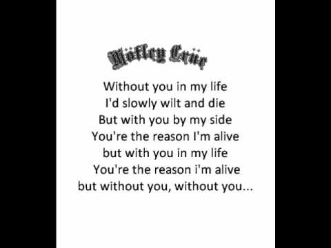 Motley Crue Without You - Lyrics