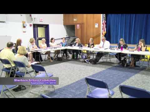 Sherborn School Committee Meeting of September 17, 2018