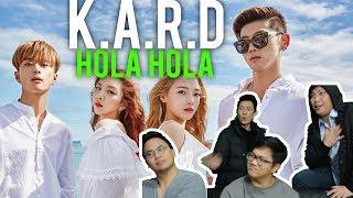 """HOLA HOLA"" at K.A.R.D (MV Reaction)"