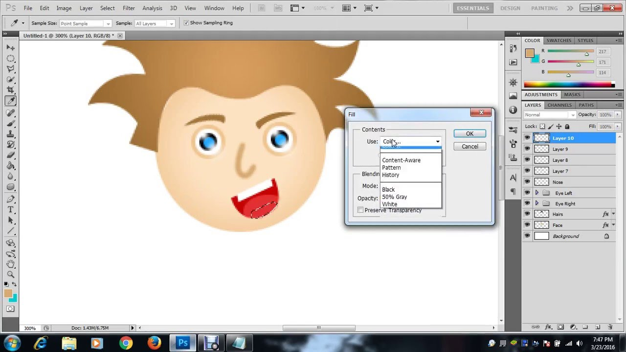 How to cartoon a picture in adobe photoshop 7