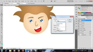 how to make a cartoon character in Adobe photoshop