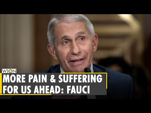 US health expert Anthony Fauci warns of pain and suffering in future as COVID cases continue to rise