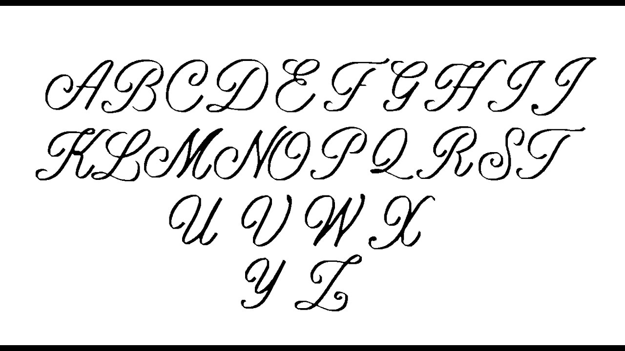 Old handwriting alphabet