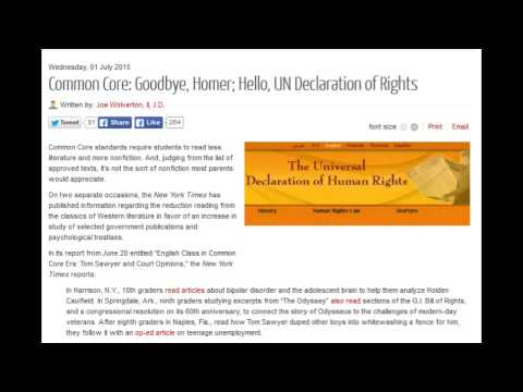Common Core: Goodbye, Homer; Hello, UN Declaration of Rights
