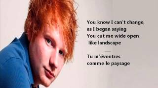 Ed Sheeran -  Drunk (Lyrics + Traduction)
