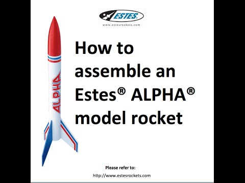 Estes Alpha Rocket Assembly