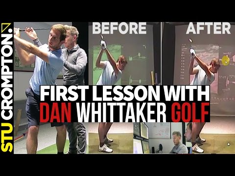 First Golf Lesson with Dan Whittaker, swinging steep golf fix
