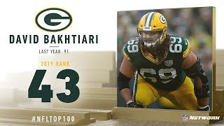 #43: David Bakhtiari (OT, Packers) | Top 100 Players of 2019 | NFL