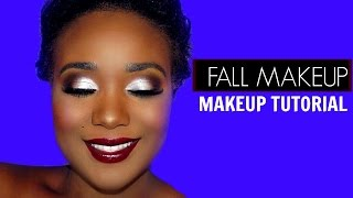 Cranberry Fall Makeup Tutorial - Makeup Geek X KathleenLights Highlighter Palette