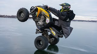 Quad Wheelies on Thin Ice