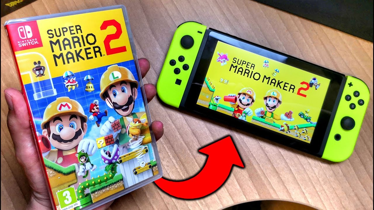 he comprado Super MARIO MAKER 2 para mi Nintendo SWITCH 😆 Unboxing y  Gameplay