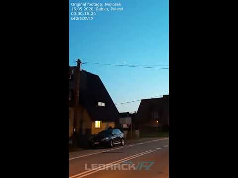 🛸 UFO - in Rabka, Poland 16.05.2020