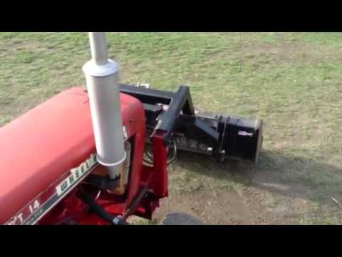 wheel horse gt14 loader youtube