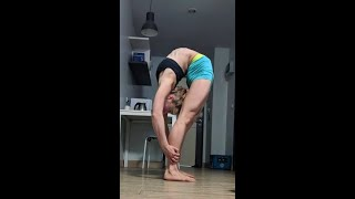 Press to handstand and Swiss ball exercises and back bends