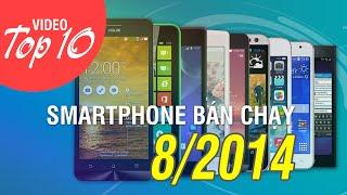 Top 10 smartphone bán chạy tháng 8/2014