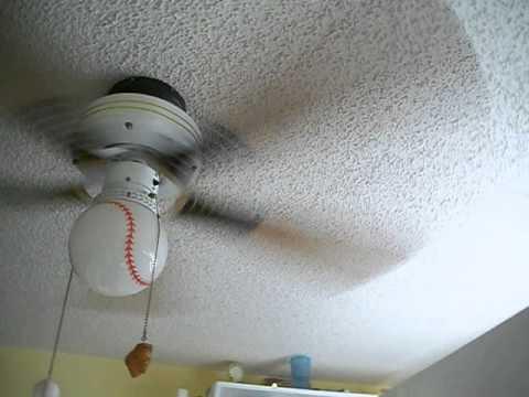 Baseball Ceiling Fan In My Sisters Room
