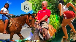    a day in our life riding horse 🐎    6ix boss pull and surprise us 😱 must watch