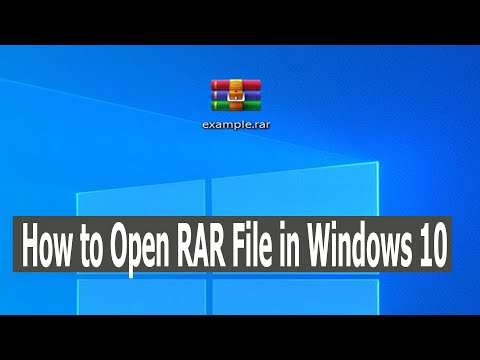 How to Extract RAR File in Windows 10