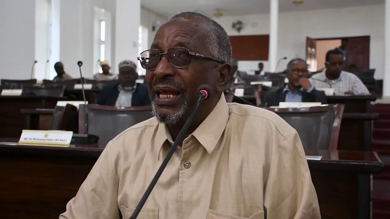 xildhibaan Axmed Barkhad Obsiiye Dooda qiimaynta Xaalada Dalka kalfadhiga 40aad - YouTube
