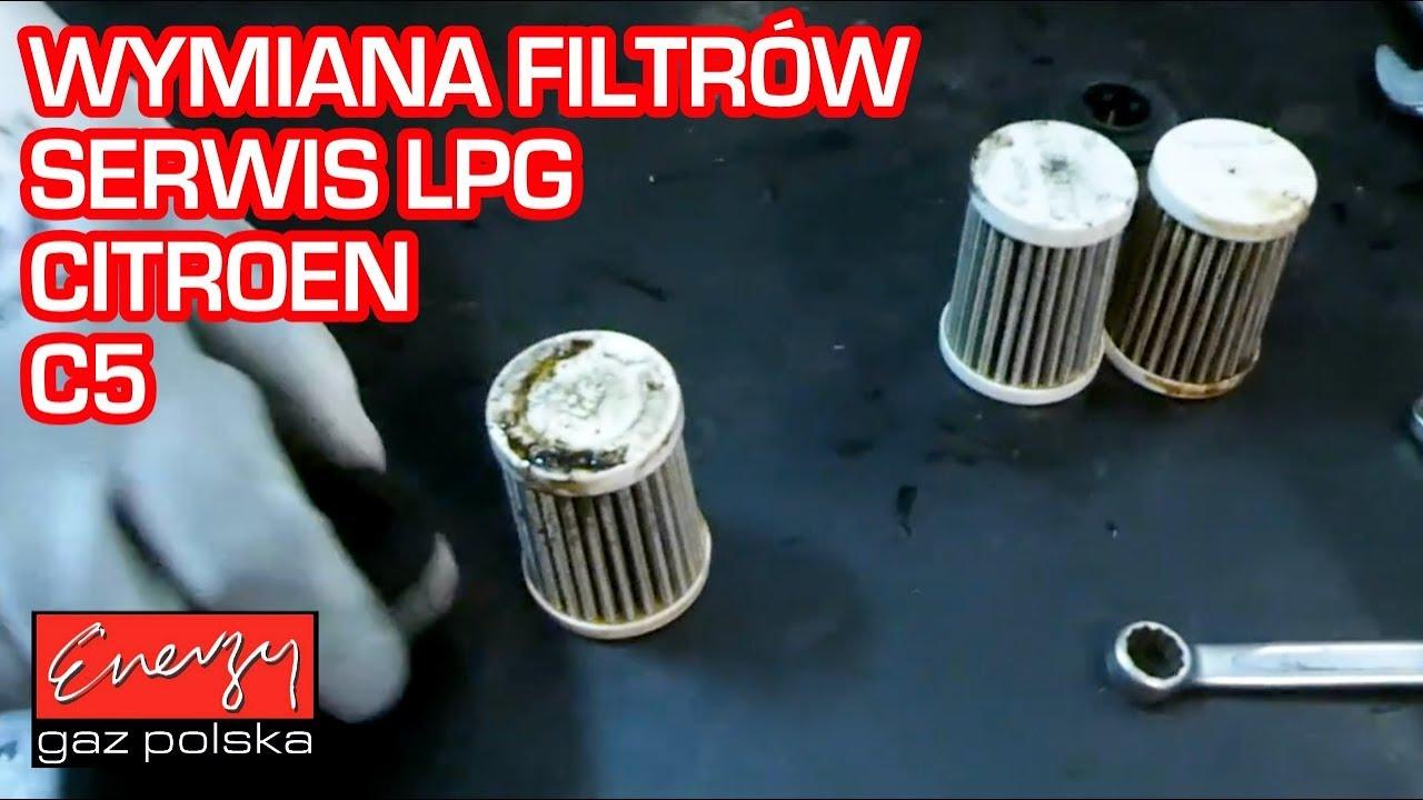 Serwis LPG wymiana filtrów Citroen C5 w Energy Gaz Polska na auto gaz!