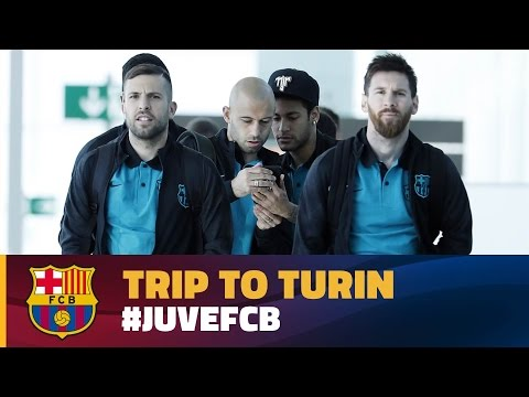 FC Barcelona: trip to Turin