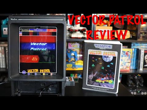 A closer look at Vector Patrol for the Vectrex! (Awesome Vectrex Homebrew Game) Review and Gameplay!