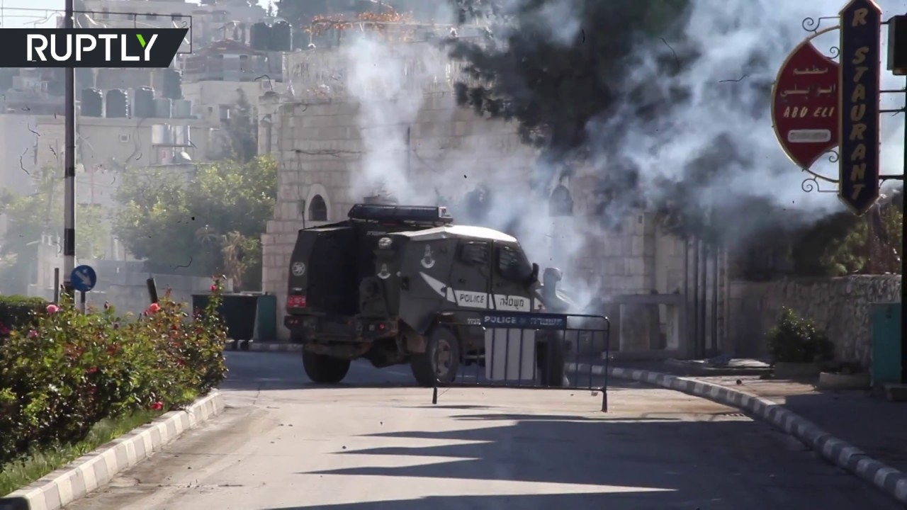 Israeli forces fire tear gas at protesters in Bethlehem in wake of Trump's Jerusalem decision