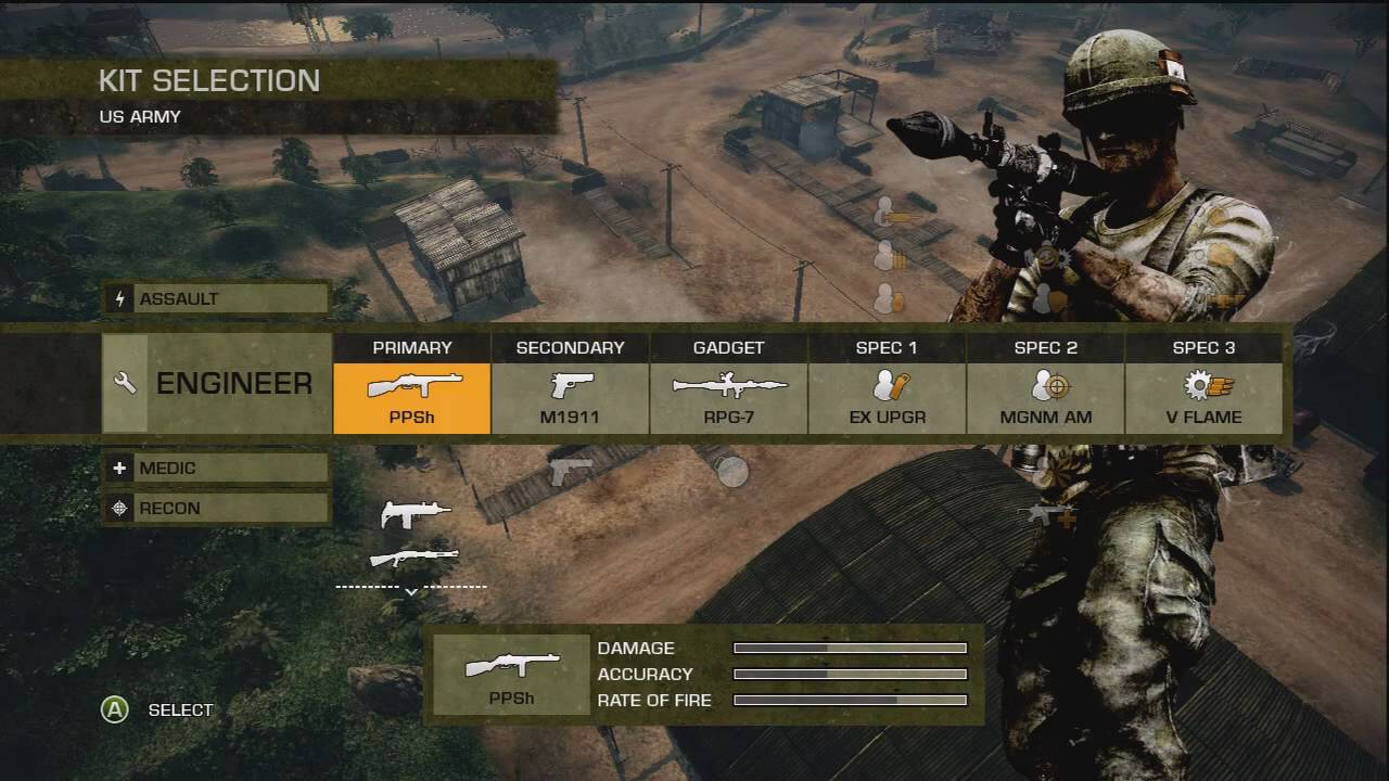 Battlefield Badcompany 2 Vietnam Xbox 360 Gameplay Youtube